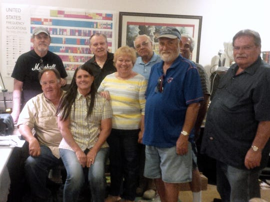 VVARC members include, back row from left, Steve Hoff, Paul Lefler, Tom Oliver and Jack Castro;  front row from left, Theron  Jensen, Janice Castro, Bruce Hughes and Jay Young.