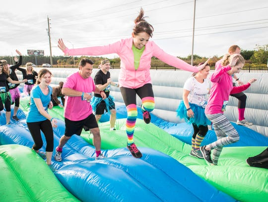 The Insane Inflatable 5K is a 3.1-mile challenge made