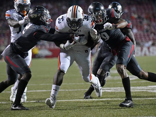 Auburn running back Kamryn Pettway's junior year was