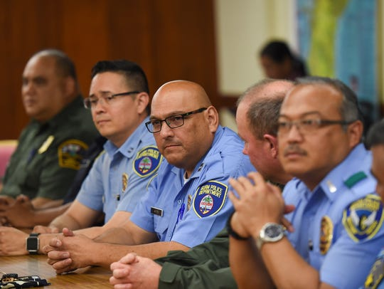 Guam Police Department officers during their Tri-Agency