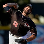Erie SeaWolves pitcher Michael Fulmer delivers against the Portland Sea Dogs during the first inning of a baseball game at Jerry Uht Park on Tuesday, Aug. 4, 2015, in Erie, Pa. Erie won 3-0.