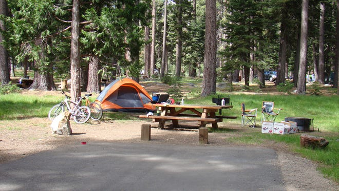 The Fallen Leaf Campground in the Tahoe area is shown.