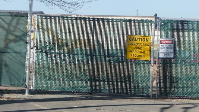 Demolition work is under way at the future site of 142 luxury apartments on Central Avenue in Hawthorne.