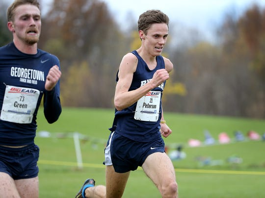 """Butler has to """"recruit people who are lower profile, and we have to find a way for them to be better than their peers to be successful,"""" says track coach Matt Roe. For example, Erik Peterson, right, who finished third at June's NCAA Championships in the 10,000 meters and was a top U.S. finisher. Coming out of high school in Barrington, Ill., he ranked 101st in the nation in the 3,200 meters."""