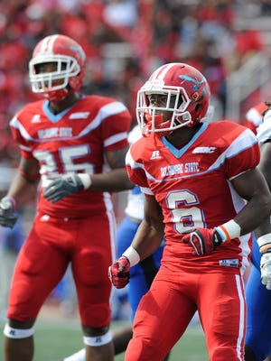 Delaware State University's Brycen Alleyne (6) rushed for a career high 169 rushing yards and two touchdowns in a 41-27 loss to Florida A&M.