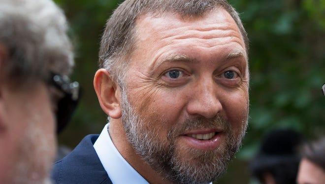 In this file photo taken on July 2, 2015, Russian metals magnate Oleg Deripaska attends Independence Day celebrations at Spaso House, the residence of the American Ambassador, in Moscow, Russia.