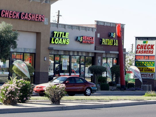 Payday loan businesses, some of them open 24-hours