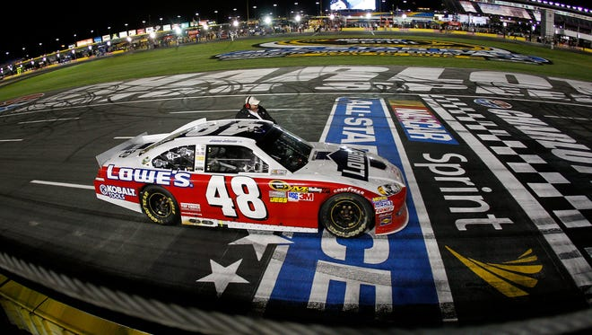 Jimmie Johnson has won the Sprint All-Star Race four times, including here in 2012.