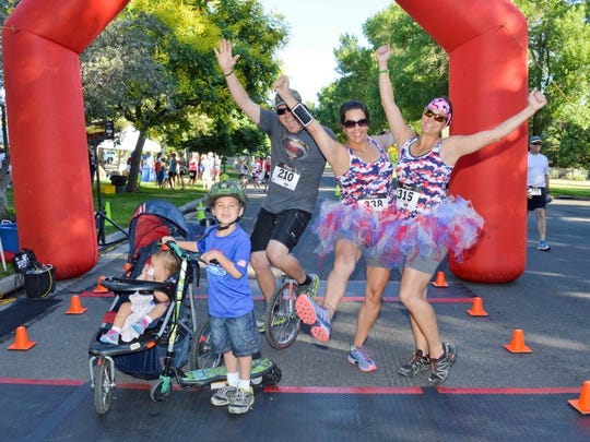 Participants in Freedom Run 2014 to raise money for Ridge House. This year's run is July 4 in Idlewild Park.