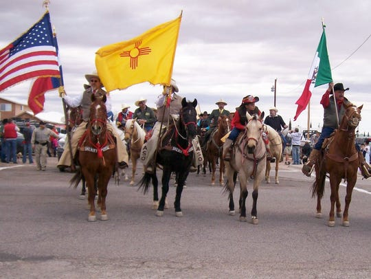 Riders from the United States and Mexico join at the