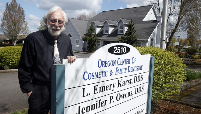 Dr. Emery Karst has been practicing dentistry in Salem since 1966. His current location, the Oregon Center of Cosmetic Dentistry, on 12th Street SE, has been open since 1998.