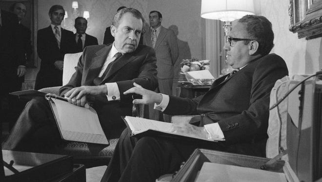 President Nixon meets with Secretary of State Henry Kissinger in 1972.