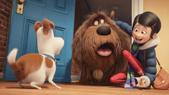 "Max meets Duke in ""The Secret Life of Pets."""