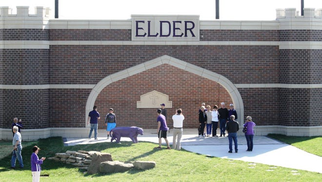 The enterance to Elder High School's Jack Adam Stadium which celebrated its grand opening April 19, 2014 at the Panther Athletic Complex.