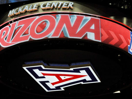 A view of the video board at McKale Center in Tucson.