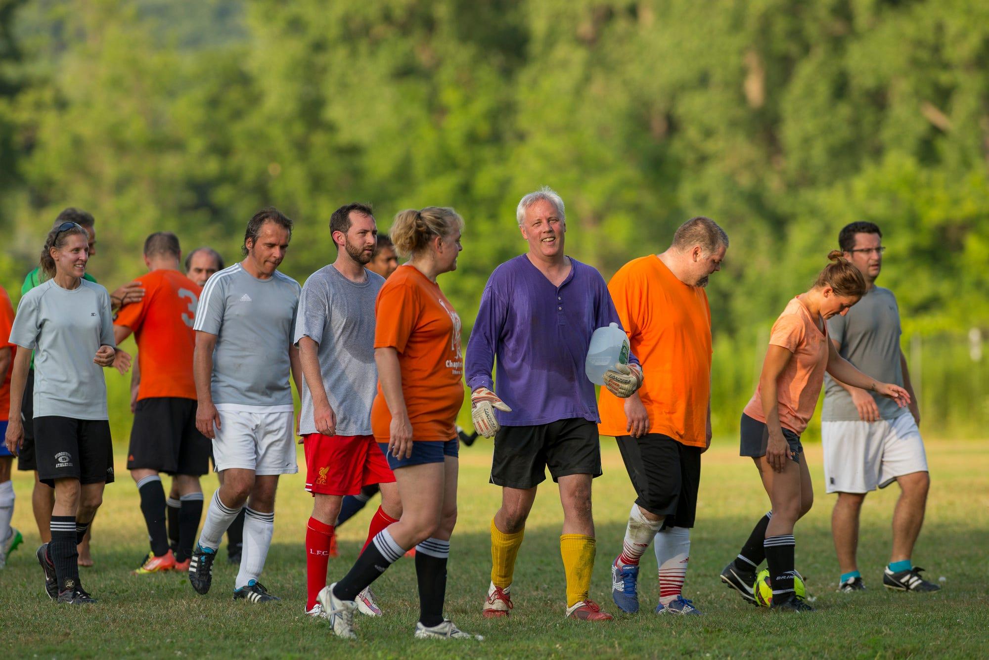 Adult in intramurals new soccer york