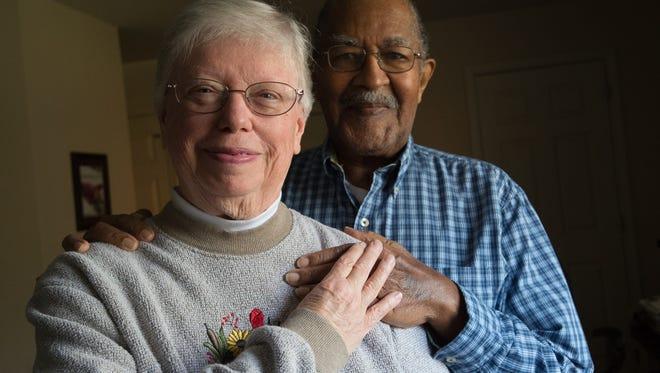 Sara and Pat Aldrich of Lewes. They got married the day after the Supreme Court legalized mixed-race marriages.