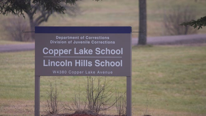 The sign for Lincoln Hills and Copper Lake schools is seen in 2015.