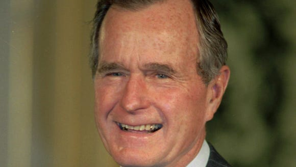 Former President George Bush shown in a 1992 file photo.