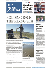 Cover of The News Journal on Wednesday, April 6, 2016.
