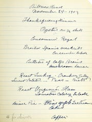 Borrowing a page from the Vanderbilt book: A Thanksgiving menu that's inspired some modern interpretations on the Biltmore Estate.