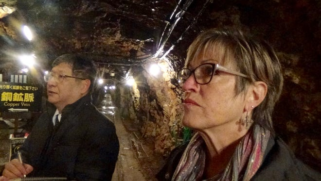 Candie Blankman tours a mine in northern Japan where her father worked in slave-like conditions as a prisoner of war during World War II.