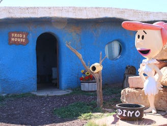 Yabba dabba doo! There's still time to meet 'The Flintstones' roadside attraction