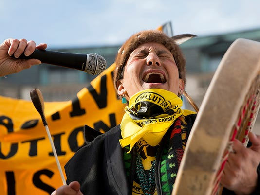 Uranium Mines protest