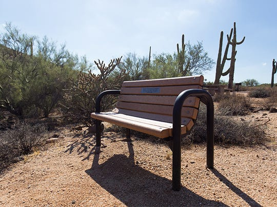 Survivors can have a memorial bench built from recycled