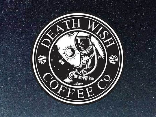 Death Wish Coffee's space-themed label.