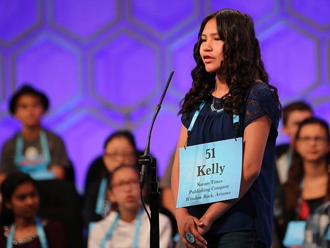 Tsehootsoi Middle School seventh-grader Kelly Haven
