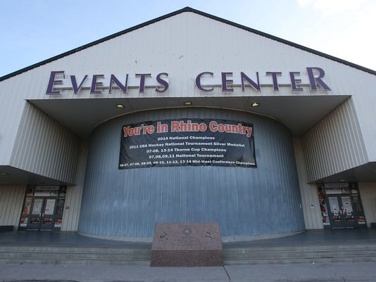 """""""VICTOR CALZADA-EL PASO TIMES The Rhinos play at the Events Center at the El Paso County Coliseum."""""""