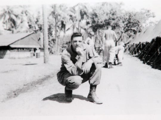 A picture of Jack Bauknecht, from his tour in the Philippines. Bauknecht, an MP, ended up guarding German POWs, among other missions.
