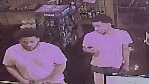 Authorities are offering a reward for information leading to the arrest and conviction of the men who stole 45 rifles and handgunsfrom a gun store in Clarksville Friday night.