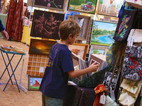 Browsing at Art from the Barn 2011 - Copy.JPG