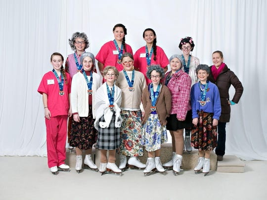Bronze entertainment team, Friendly Manor, coached by Christina Christensen, placed first out of 11 teams. As pictured, the skaters were: Back row: Lillie Boero, McKenzie Wilsmann, Selena Rocha, Torey Foemmel, and Coach Christina Christensen; Middle row: Lauren Maki, Morgan Lass, Aubriana Brown, Jessica Berg, and Emma Tarter; and Front row: Natalie Kanitz, and Hannah Harycki.