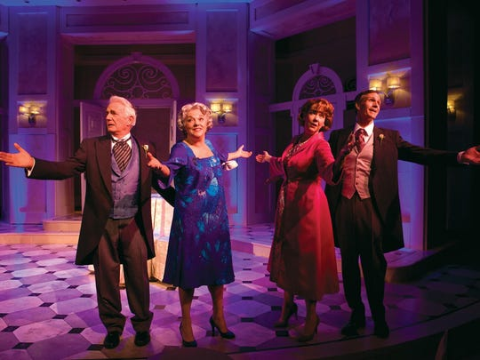 """Richard Kline (left to right), Tyne Daly, Harriet Harris and Howard McGillin in the 2011 George Street Playhouse original production of """"It Shoulda Been You,"""" directed by David Hyde Pierce. The show moved to Broadway in 2015."""