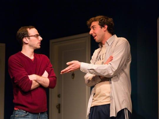 "Alec Silberblatt (left) and Amos VanderPoel in Joshua Harmon's ""Bad Jews."""