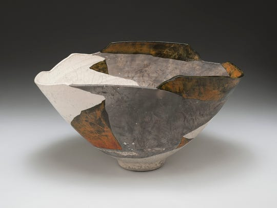 """Return to White Mesa (1978), a work by Wayne Higby is part of """"Infinite Place: The Ceramic Art of Wayne Higby at Memorial Art Gallery."""" Higby, a professor at the New York State College of Ceramics at Alfred University, and director and curator of Alfred's Schein-Joseph International Museum of Ceramic Art, explains his inspiration in a talk this week."""