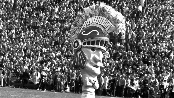 The Sparty head in an undated photo.