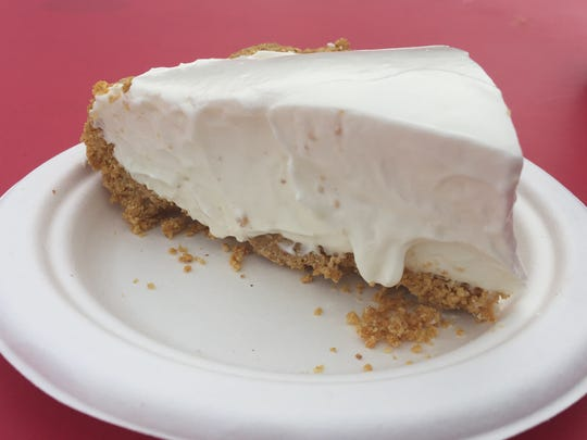 A slice of key lime pie from Ludwig's Center Stage Cafe at the 2016 Xerox Rochester International Jazz Festival