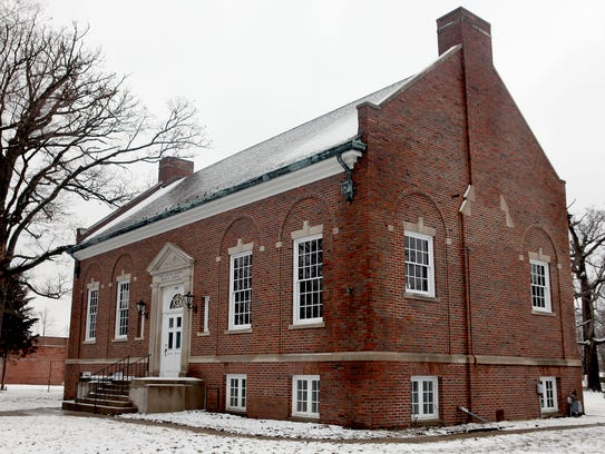 The old Maring Library at Memorial Drive and Madison