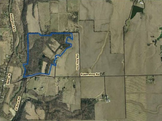 This map shows the area in Wayne County that makes up the new Wap-nipi state nature preserve.