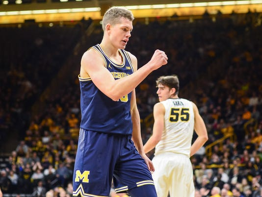 NCAA Basketball: Michigan at Iowa