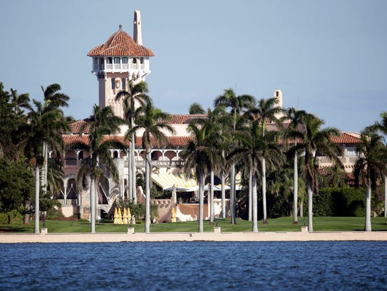 The Mar-a-Lago resort owned by President Trump in Palm