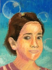 A portrait of a Syrian child by an Ithaca High School art student.