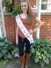 Jaelyn Jones, winner of the 2018 Henderson County Fair Pre-Teen Pageant