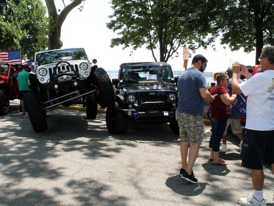 Jeep owners demonstrated their vehicles' versatility