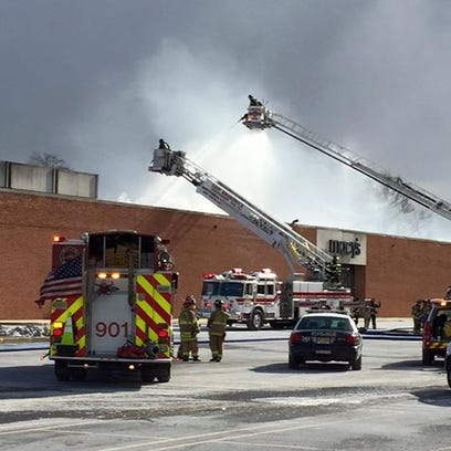 A fire in solar panels at Brunswick Square mall in