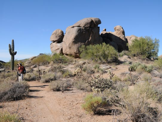Cathedral Rock in McDowell Sonoran Preserve is a collection